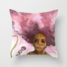 Macy Gray's Greatest Hits Throw Pillow