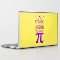 pi Laptop & iPad Skins featuring Pi Day by Square Lemon