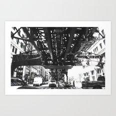 tracked Art Print