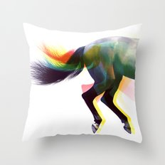 clop clop clop Throw Pillow