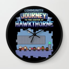 Community - Journey to the Center of Hawkthorne Wall Clock
