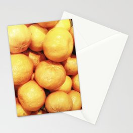 texture of mandarins Stationery Cards