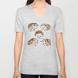 Hedgehogs Unisex V-Neck
