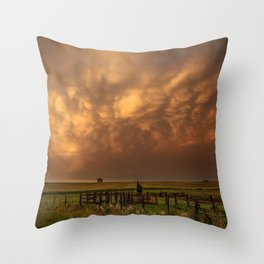 Afterglow - Clouds Glow After Storms at Sunset Throw Pillow
