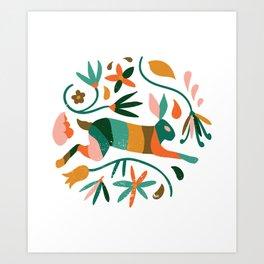 Rustic Jungle #illustration Art Print