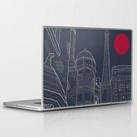 blueprint Laptop & iPad Skins featuring Paris Blueprint by ralexandertrejo