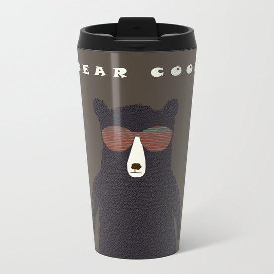 bear cool Metal Travel Mug