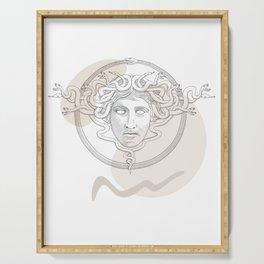 medusa / Classical Greek minimal Serving Tray