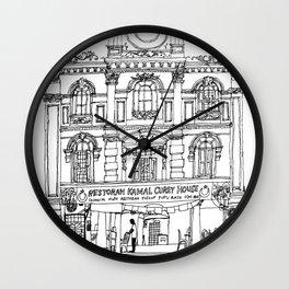 Southeast Asia Sketches: Backpacker Hostel; Kuala Lumpur Wall Clock