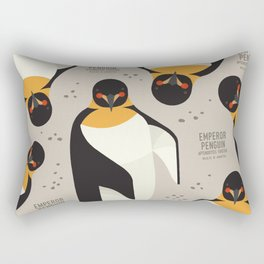 Emperor Penguin, Antarctica Wildlife Rectangular Pillow