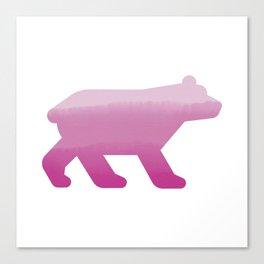 Pink Bear - Wildlife Series Canvas Print