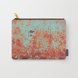 Grunge Pattern Orange Blue Texture Old Rust Dirty Carry-All Pouch