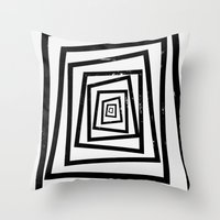 illusion Throw Pillows featuring Illusion by Janet Datu