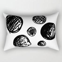 ABSTRACT SCRIBBLE DOTS Rectangular Pillow