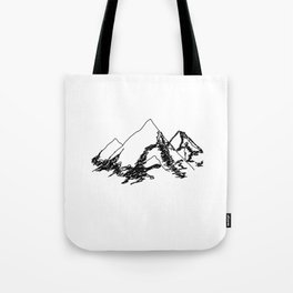 Mountain Sketch Tote Bag