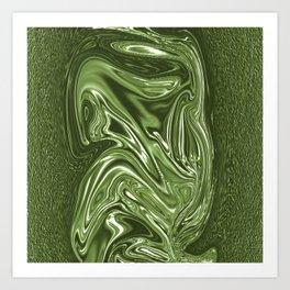 Curvaceous 4 ......flowing liquid color....original art Art Print