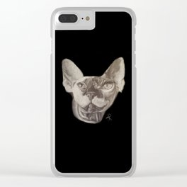 Wale the Cat Clear iPhone Case