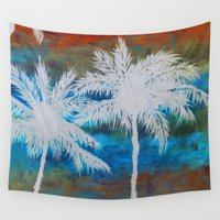 palm trees Wall Tapestries featuring Palm Trees by Bonnie J. Breedlove