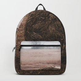 sheaf hay straw field grass Backpack