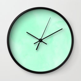 Mint Meringue Watercolor Wall Clock