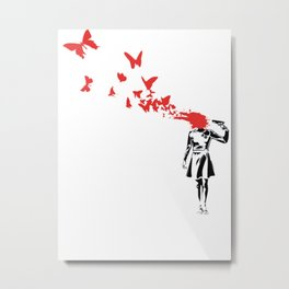 Butterfly HeadShoot Metal Print