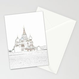Saint Basil's Cathedral (on white) Stationery Cards