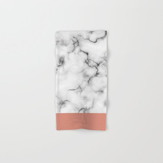 Marble & copper Hand & Bath Towel