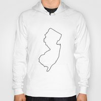 new jersey Hoodies featuring New Jersey by mrTidwell