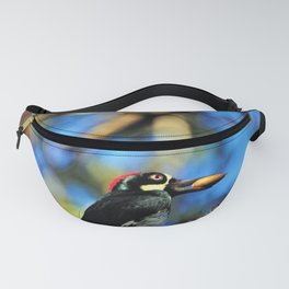 Acorn Autumn Woodpecker by Reay of Light Fanny Pack