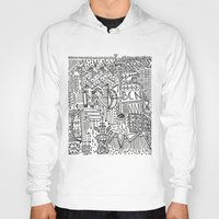 barcelona Hoodies featuring Barcelona  by Michaella Fortune