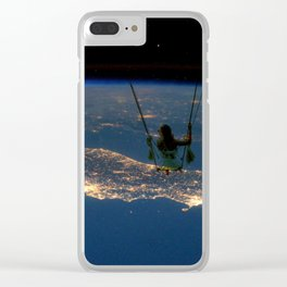"""Big Swing Thing"" by Barry James Lee Clear iPhone Case"