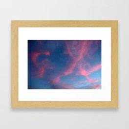Red clouds Gerahmter Kunstdruck