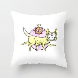 Foxgod Throw Pillow