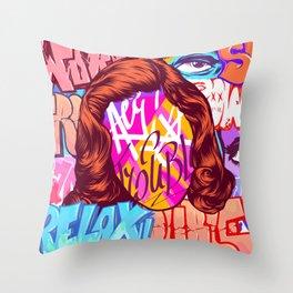 Street art  Throw Pillow