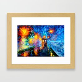 The 10th Doctor Starry The Night Framed Art Print