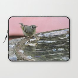 Kinglet at the Basin Rim Laptop Sleeve