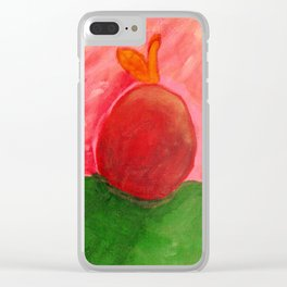 The Apple - Painting by young artist with Down syndrome Clear iPhone Case