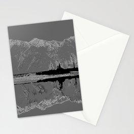 Knik River Mts. Pop Art - 3 Stationery Cards