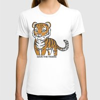 tigers T-shirts featuring TIGERs by hoshi-kou