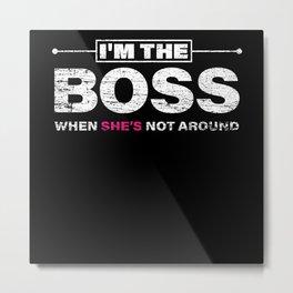 Man Boss Metal Print