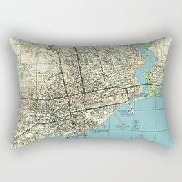 Vintage Map of Pensacola Florida (1944) Rectangular Pillow
