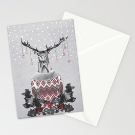Christmas Deer (by Mariam & Nika) Stationery Cards