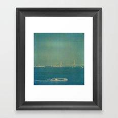 Tokyo Bay Polaroid Framed Art Print