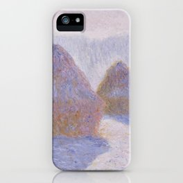 Haystacks, Effect of Snow and Sun by Claude Monet iPhone Case