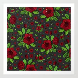 Floral background Art Print