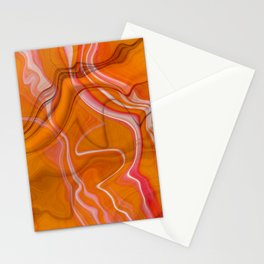 Abstract Magma Lava Flow Marble Texture Stationery Cards