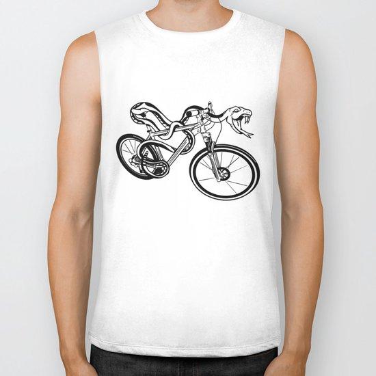 Snake Riding  A Mountain Bike Biker Tank