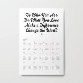 2014 Calendar Metal Print