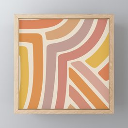 Abstract Stripes IV Framed Mini Art Print