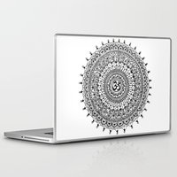 ohm Laptop & iPad Skins featuring Ohm Mandala by Sarah Ottino